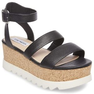 Steve Madden cork platform wedge sandals